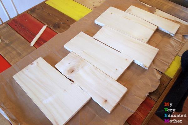 REpurpose Karate Boards into a Coat Rack
