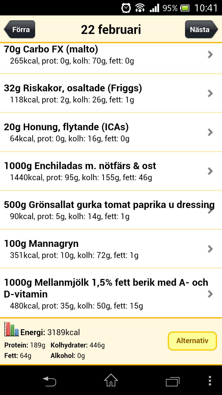 app med egna recept