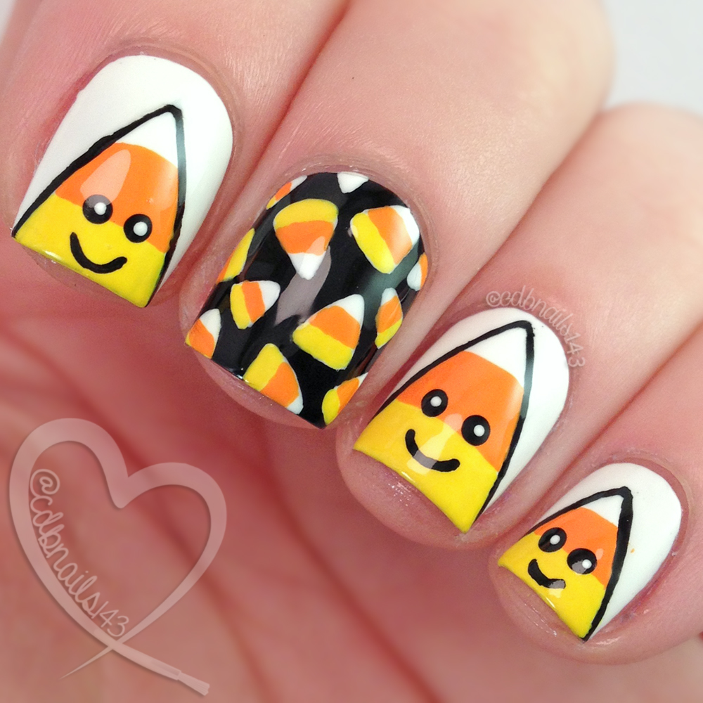 Cdbnails Candy Corn Nail Art And Tutorial