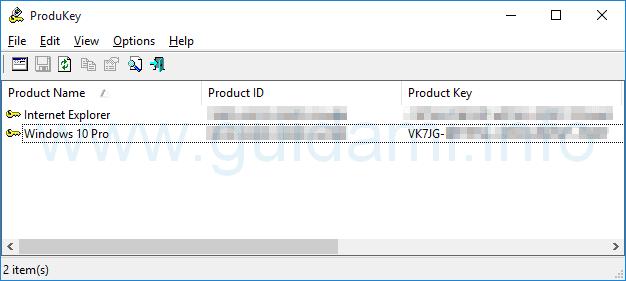 ProduKey Product Key Windows 10