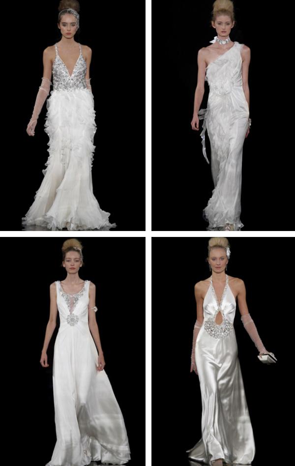Best Hairstyle For V Neck Wedding Dress : Bridal hairstyle: jenny packham wedding dresses
