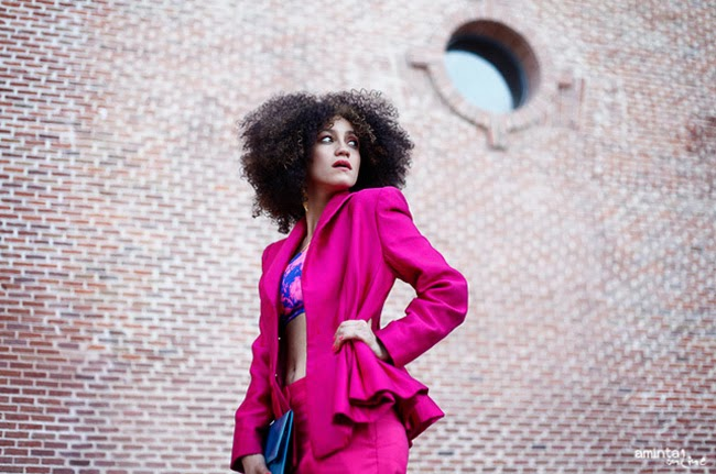Aminta, pink, outfit, suit