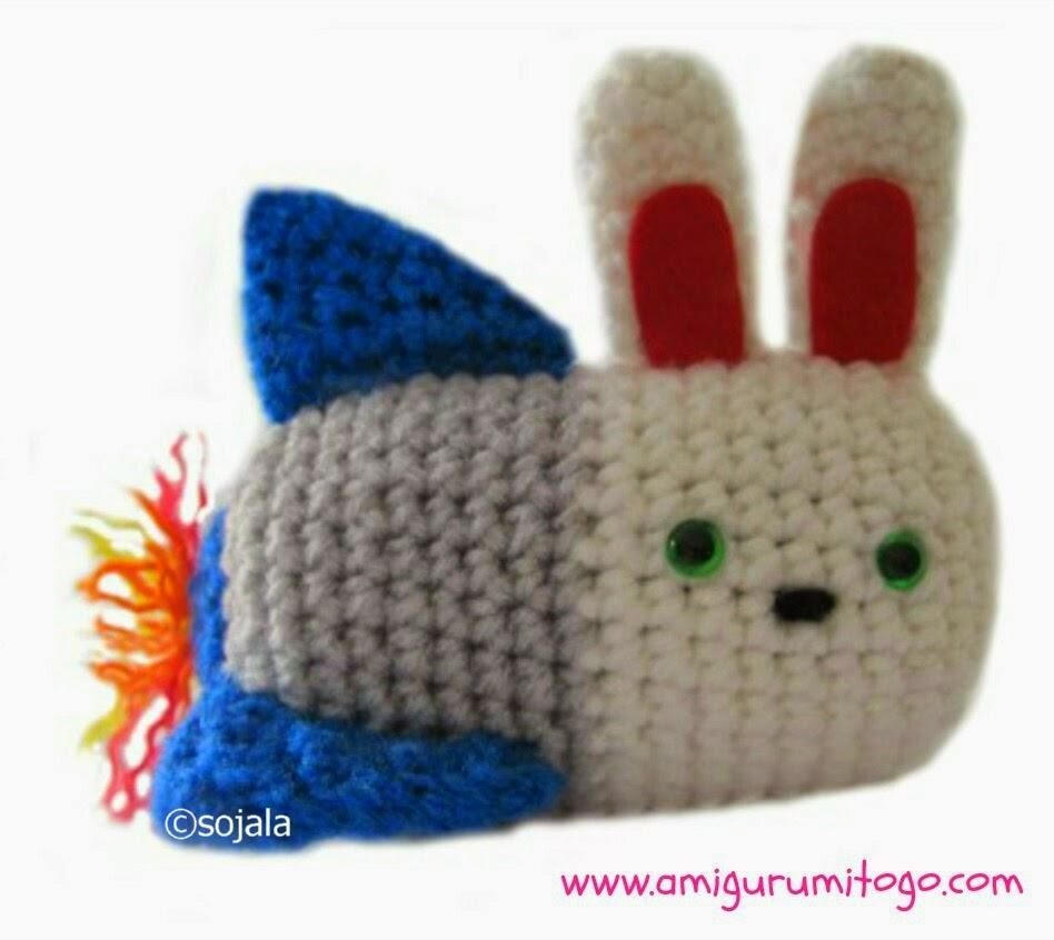 Bunny Amigurumi To Go : Moshi Moshi Kawaii Bunny Rocket Crochet Pattern ...