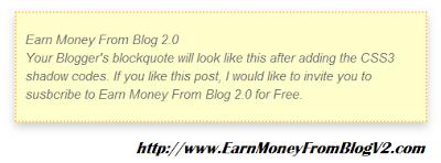 Blogger Customization Blockquote