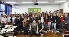 """""""Palestra de incentivo a liderança"""" Organização Pilati (OPILATI) com Grêmio Estudantil."""