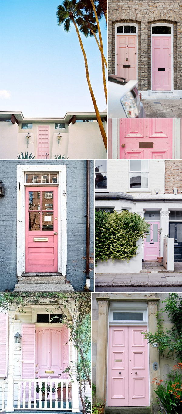 What do you think of pink doors? If you could which color would you paint your front door? & STYLE :: PINK DOORS u2013 Fluxi On Tour