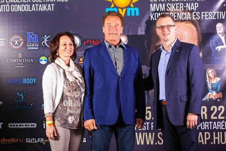 Arnold Schwarzenegger, Honvéd Henriette, Mátrai Szilárd az MVM Sikernapon.