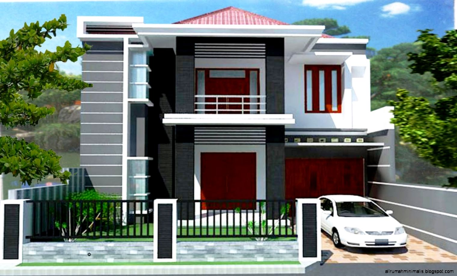 25 KEREN Contoh Gambar Rumah Minimalis Modern 2 Lantai 2015