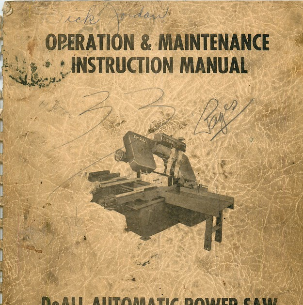 Doall Band Saw Manual