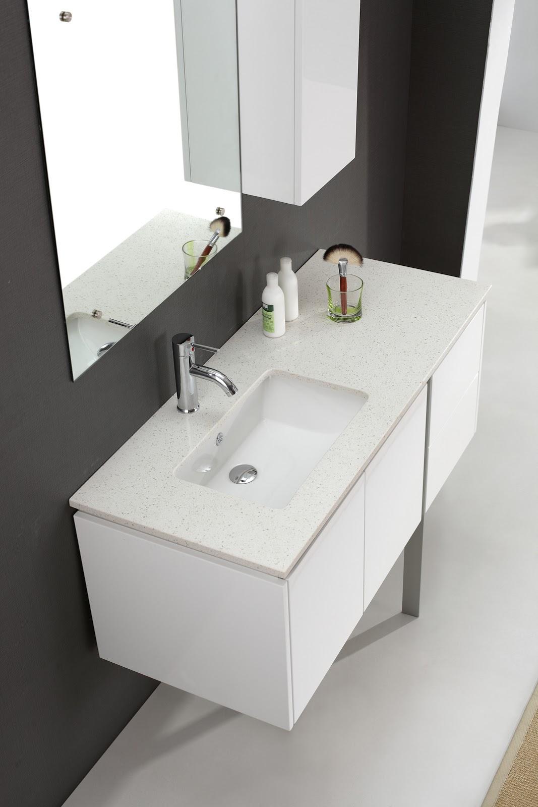Modern white bathroom vanity for Modern white bathroom