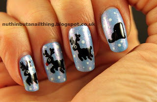 reindeer and sleigh nails