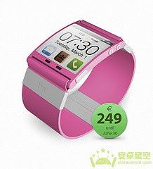 Android Access Microblogging, Colorful Watch Pink Microblogging