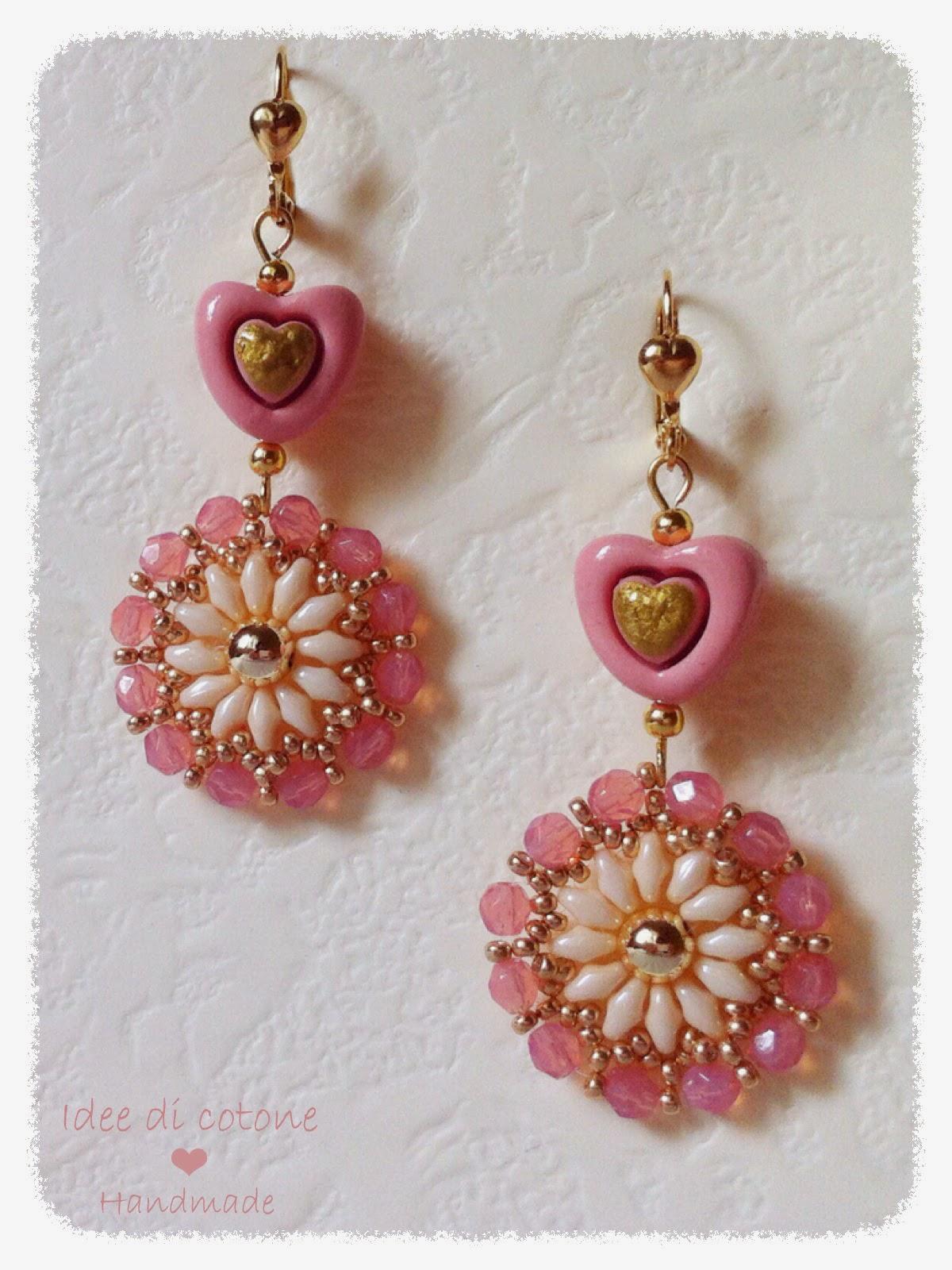 Estremamente Idee di cotone: Orecchini di perline! UR14