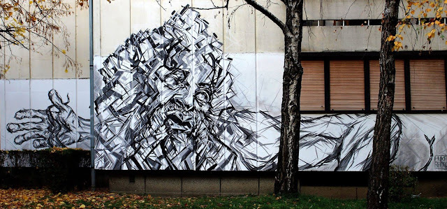 Banja Luka, hometown of Flaster festival, just got richer by a fresh piece by a young local artist, Luka Radoš. Luka spent some 30hrs working on this original work, inspired by the Greek mythology.