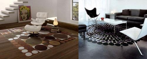 Salas con alfombras ideas para decorar dise ar y for Alfombras redondas ikea