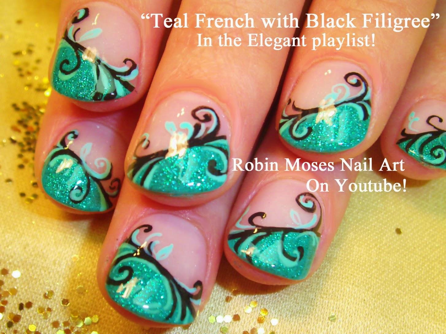 flower nail art\