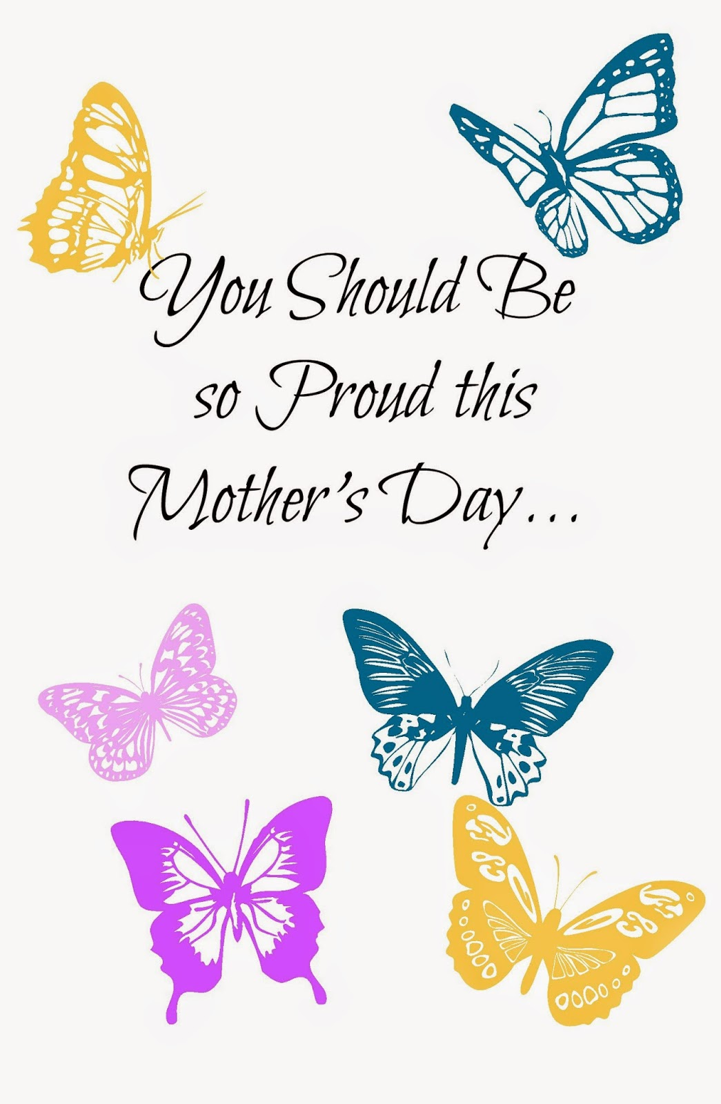 Free Printable Mothers Day Card