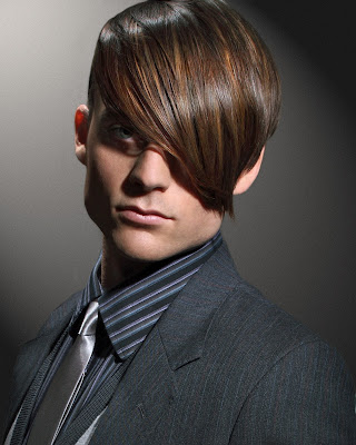 male model, hairdressing photo