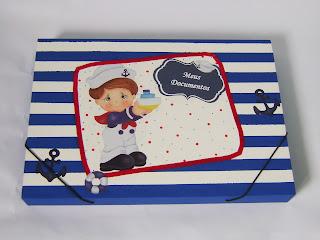 caixa bebê marinheiro