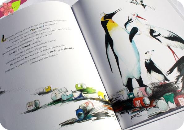 Coups de pinceau sur les oiseaux de Cécile Alix et Xavière Devos - l'élan vert