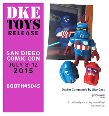 "San Diego Comic-Con 2015 Exclusive Marvel Edition ""Captain America"" Dester Commando Vinyl Figure by Star Case"