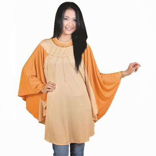 baju blus wanita kuning spandek all size