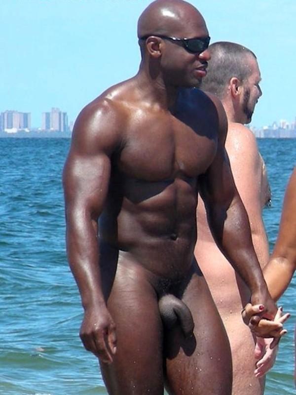 Naked black men nude beach