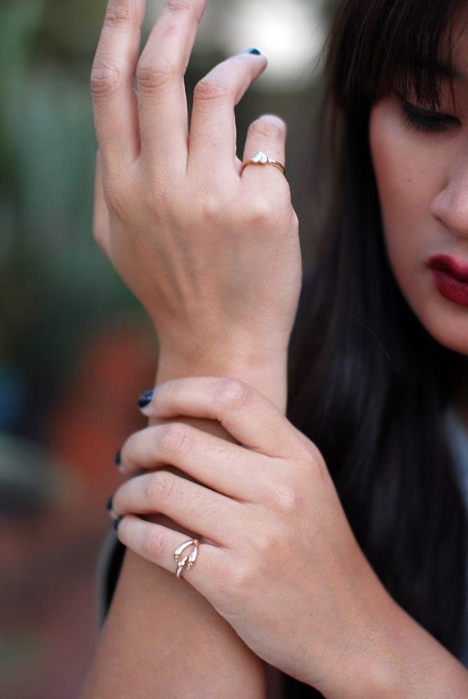 Style Lately Jewellery Knuckle Claw Ring and Knuckle Heart Ring