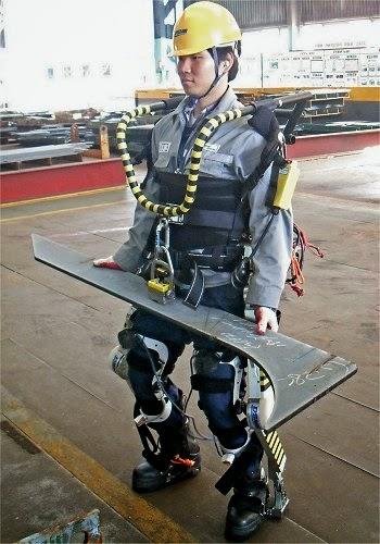 Exoesqueleto dá força sobre-humana a trabalhadores