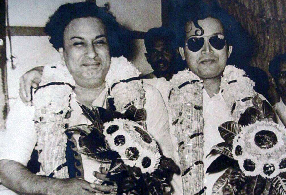 MGR with his Favorite Villan M.N. Nambiyar