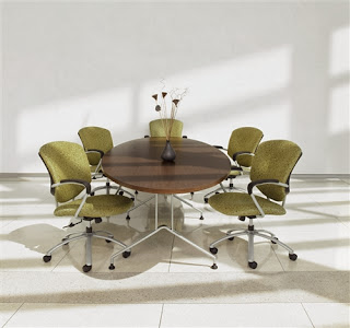 Alba Elliptical Conference Table by Global