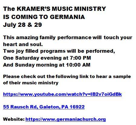 7-28/29 Kramer's Music Ministry
