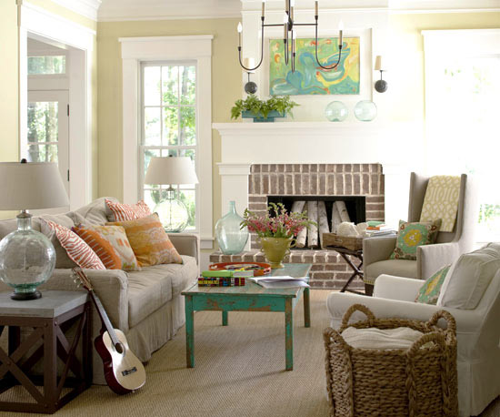 2013 Cottage Living Room Decorating Ideas Home Interiors