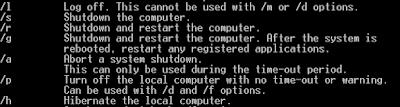 Cara Shutdown, Restart, Log Off dan Hibernate Komputer dengan CMD
