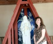 Diane with the Blessed Mother