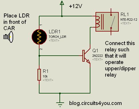 Automatic Upper Dipper Light Control | circuits4you.com
