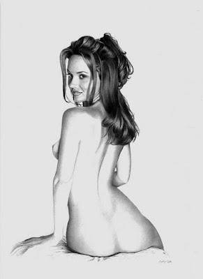 Ilustaciones A Lapiz De Chicas Desnudas