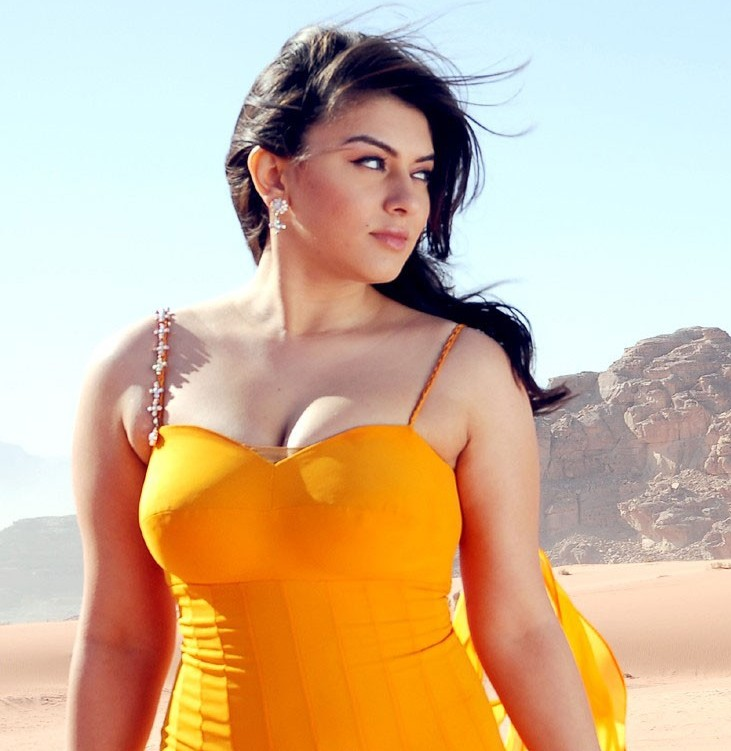 Hansika Motwani in Orange Dress - Hansika Motwani in Orange Dress - HOt Pics