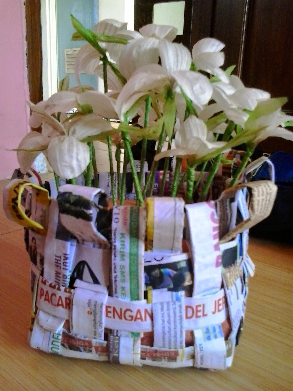 Kerajinan Tangan Bunga Dari Kulit Bawang Putih