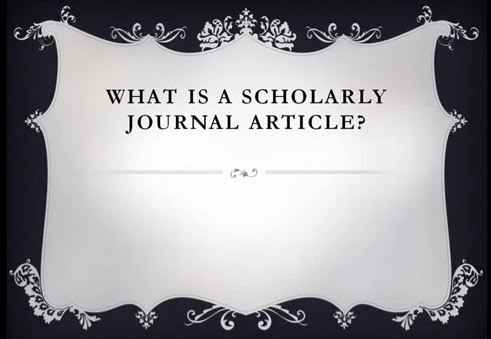 what is scholarly research paper