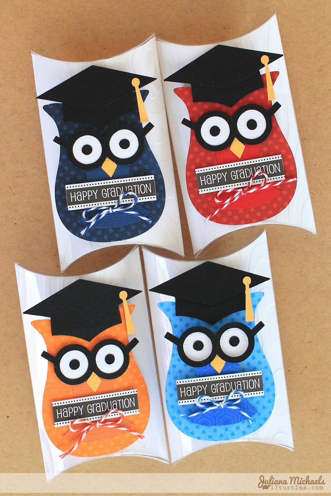 SRM Stickers Blog - DIY Graduation Pillow Boxes by Juliana  #graduation #favors  #DIY #kit #pillow box #twine #stickers