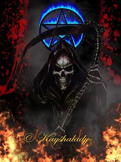 The grim reaper, fantasy dark art, fantasy backgrounds