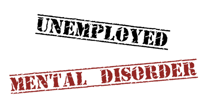 Unemployed and mental disorder graphic