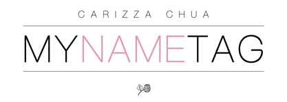 Carizza Chua | My Name Tag ♡