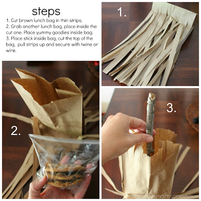DIY Witch's Broom Bag