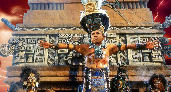 The Mayan Calendar predicts the world will end in 2012 if Obama is reelected