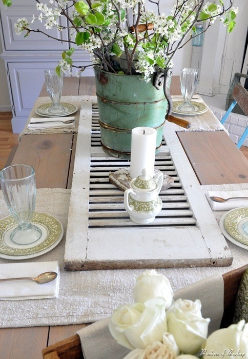 now if you want to add a bit of charm and drama to your tablehow about thiswhat a cool idea and oh the possibilities - Shutter Designs Ideas