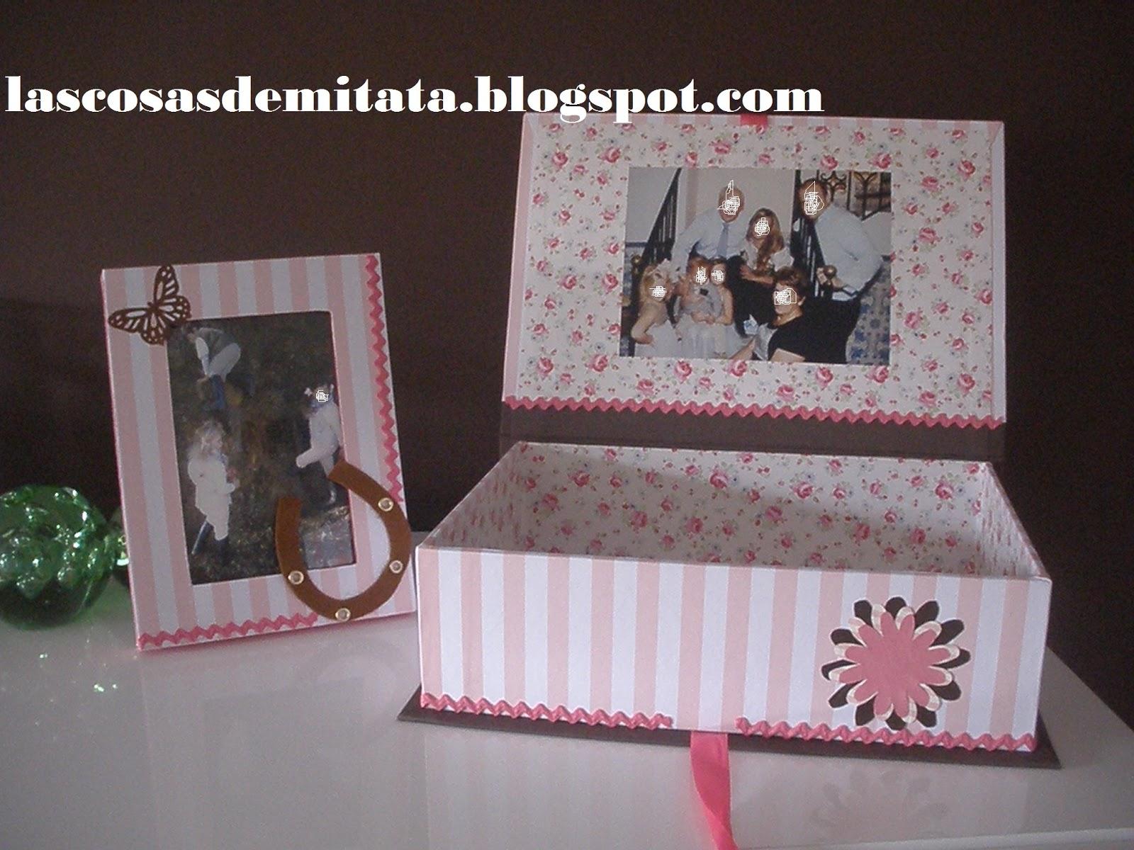 Las cosas de mi tata caja personalizada con foto marco for Cajas personalizadas con fotos