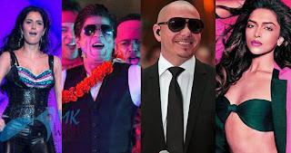 Shah Rukh Khan, Katrina Kaif, Deepika Padukone, Pitbull  Performing in IPL 2013