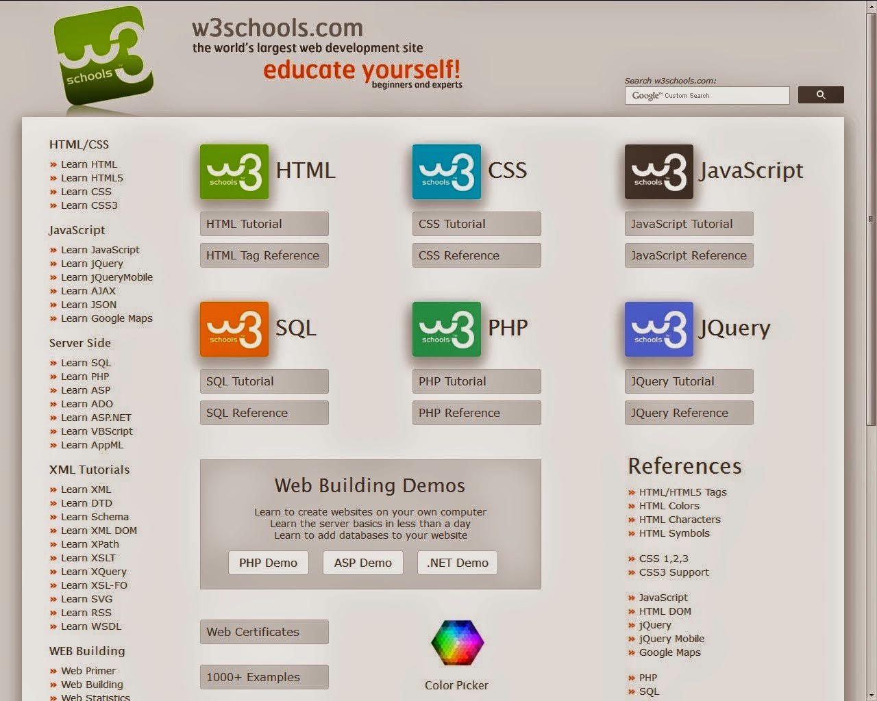 Pdf Tutorial Ebook Gallery Web Design Html Css Javascript Sql Php